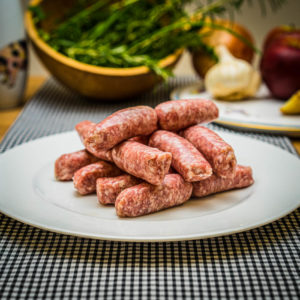 Organic rare breed Pork Chipolatas (25.12)